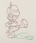 "Animation Art:Production Drawing, Pinocchio ""Russian Dance"" Animation Drawing (Walt Disney,1940). ..."