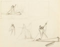 Animation Art:Concept Art, Snow White and the Seven Dwarfs Old Hag Study Drawing (WaltDisney, 1937). ...