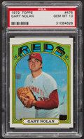 Baseball Cards:Singles (1970-Now), 1972 Topps Gary Nolan #475 PSA Gem MT 10 - Pop Five. ...