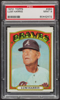 Baseball Cards:Singles (1970-Now), 1972 Topps Lum Harris #484 PSA Mint 9 - Only Two Higher. ...