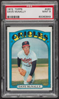 Baseball Cards:Singles (1970-Now), 1972 Topps Dave McNally #490 PSA Mint 9 - Five Higher. ...