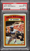 Baseball Cards:Singles (1970-Now), 1972 Topps Billy Williams In Action #440 PSA Gem MT 10. ...