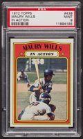 Baseball Cards:Singles (1970-Now), 1972 Topps Maury Wills In Action #438 PSA Mint 9 - Only Two Higher. ...