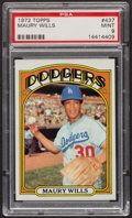 Baseball Cards:Singles (1970-Now), 1972 Topps Maury Wills #437 PSA Mint 9....