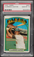 Baseball Cards:Singles (1970-Now), 1972 Topps Clarence Gaston #431 PSA Gem MT 10 - Pop Three. ...