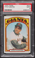 Baseball Cards:Singles (1970-Now), 1972 Topps Tito Fuentes #427 PSA Mint 9 - Only One Higher. ...
