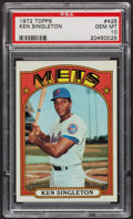 Baseball Cards:Singles (1970-Now), 1972 Topps Ken Singleton #425 PSA Gem MT 10. ...