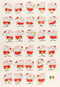 Animation Art:Poster, UPA Santa Claus Promotional Poster with Mister Magoo (UPA, 1957)....