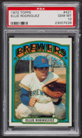 Baseball Cards:Singles (1970-Now), 1972 Topps Ellie Rodriguez #421 PSA Gem MT 10 - Pop Four. ...