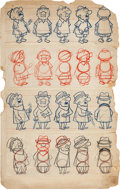 animation art:Model Sheet, Mr. Magoo Model Sheet/Size Comparison Original Art Group of 4 (UPA,c. 1950s). ... (Total: 4 Items)