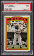 Baseball Cards:Singles (1970-Now), 1972 Topps Willie Stargell In Action #448 PSA Mint 9 - Only Two Higher. ...