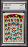 Baseball Cards:Singles (1970-Now), 1972 Topps Cubs Team #192 PSA Mint 9 - Only Four Higher. ...