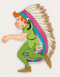 Animation Art:Production Cel, Peter Pan Peter with Indian Headdress Production Cel (Walt Disney, 1953). ...