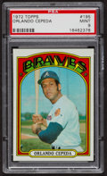 Baseball Cards:Singles (1970-Now), 1972 Topps Orlando Cepeda #195 PSA Mint 9 - Only Three Higher. ...