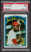 Baseball Cards:Singles (1970-Now), 1972 Topps Lou Brock #200 PSA Mint 9 - Only Two Higher. ...