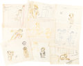Animation Art:Concept Art, Trouble Indemnity Mr. Magoo Story/Layout Drawings Group of 9(UPA, 1950). ... (Total: 9 Items)