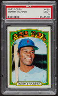 Baseball Cards:Singles (1970-Now), 1972 Topps Tommy Harper #455 PSA Mint 9 - Only One Higher. ...