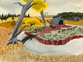 Animation Art:Concept Art, Mary Blair Song of the South Watermelon Patch ConceptPainting (Walt Disney, 1946). ...