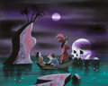 Animation Art:Concept Art, Mary Blair Peter Pan Captain Hook and Mister Smee ConceptPainting (Walt Disney, 1953). ...