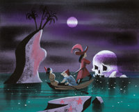 Mary Blair Peter Pan Captain Hook and Mister Smee Concept Painting (Walt Disney, 1953)