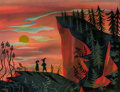 Animation Art:Concept Art, Mary Blair Peter Pan Captain Peter and Wendy ConceptPainting (Walt Disney, 1953). ...