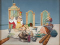 Animation Art:Production Cel, Gulliver's Travels King Little and Gabby Production CelSetup and Key Master Background (Max Fleischer, 1939). ...