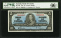 Canadian Currency, BC-23b $5 1937. ...