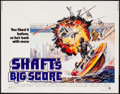 "Movie Posters:Blaxploitation, Shaft's Big Score! (MGM, 1972). Half Sheet (22"" X 28"").Blaxploitation.. ..."