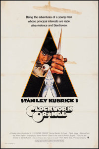 "A Clockwork Orange (Warner Brothers, 1971). One Sheet (27.25"" X 40.75""). Science Fiction"