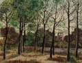 Fine Art - Painting, European:Modern  (1900 1949)  , Jean Eve (French, 1900-1968). Les Arbres, 1929. Oil oncanvas. 19-3/4 x 26 inches (50.2 x 66.0 cm). Signed lower right:...