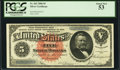 Large Size:Silver Certificates, Fr. 262 $5 1886 Silver Certificate PCGS About New 53.. ...
