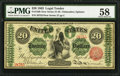 Large Size:Legal Tender Notes, Fr. 126b $20 1863 Legal Tender PMG Choice About Unc 58.. ...