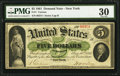Large Size:Demand Notes, Fr. 1 $5 1861 Demand Note PMG Very Fine 30.. ...