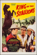 """Movie Posters:Western, King of the Stallions (Monogram, 1942). One Sheet (27.25"""" X 41.75""""). Western.. ..."""