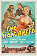 "Movie Posters:Western, The Half-Breed (RKO, 1952). One Sheet (27"" X 41""). Western.. ..."