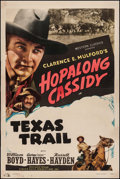 "Movie Posters:Western, Texas Trail (Screen Guild, R-1947). Stock One Sheet (27.25"" X 40.75"") Style B. Western.. ..."