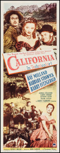 "Movie Posters:Western, California (Paramount, 1946). Insert (14"" X 36""). Western.. ..."