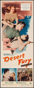 "Movie Posters:Film Noir, Desert Fury (Paramount, 1947). Insert (14"" X 36""). Film Noir.. ..."