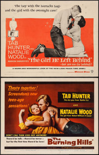 """The Burning Hills & Other Lot (Warner Brothers, 1956). Half Sheets (2) (22"""" X 28""""). Western. ... (Tota..."""