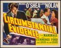 """Movie Posters:Crime, Circumstantial Evidence (20th Century Fox, 1945). Half Sheet (22"""" X28""""). Crime.. ..."""