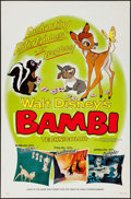 "Movie Posters:Animation, Bambi (Buena Vista, R-1966/R-1975). Flat Folded One Sheets (2) (27""X 41"") Styles A & B. Animation.. ... (Total: 2 ..."