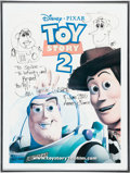 Animation Art:Poster, Toy Story 2 Buzz and Woody Poster with Sketch by JohnLasseter (Pixar/Walt Disney, 2000). ...