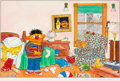 Animation Art:Production Drawing, Sesame Street Magazine #89 Ernie Original Illustration (TheParenting Group, 1980). ...
