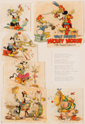 "Animation Art:Production Drawing, ""The Band Concert"" Good Housekeeping Illustrations by Tom Wood (Walt Disney, 1935)...."