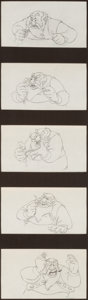 Animation Art:Production Drawing, Pinocchio Stromboli Animation Drawing Sequence of 5 (WaltDisney, 1940). ...