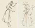 Animation Art:Production Drawing, Sleeping Beauty Briar Rose and Mock Prince AnimationDrawings Group of 2 (Walt Disney, 1959)....