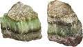Other, A Large Pair of Green Calcite Specimens. 16 h x 10 w x 8 d inches (40.6 x 25.4 x 20.3 cm). ... (Total: 2 Items)