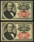 Fractional Currency:Fifth Issue, Fr. 1308 25¢ Fifth Issue Very Fine;. Fr. 1309 25¢ Fifth Issue VeryFine.. ... (Total: 2 notes)