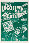 "Movie Posters:Horror, The Devil Bat (PRC, R-1940s). One Sheet (27"" X 41""). Horror.. ..."