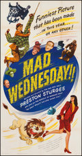 "Movie Posters:Comedy, Mad Wednesday (United Artists, 1947). Three Sheet (41"" X 78.5"").Comedy.. ..."